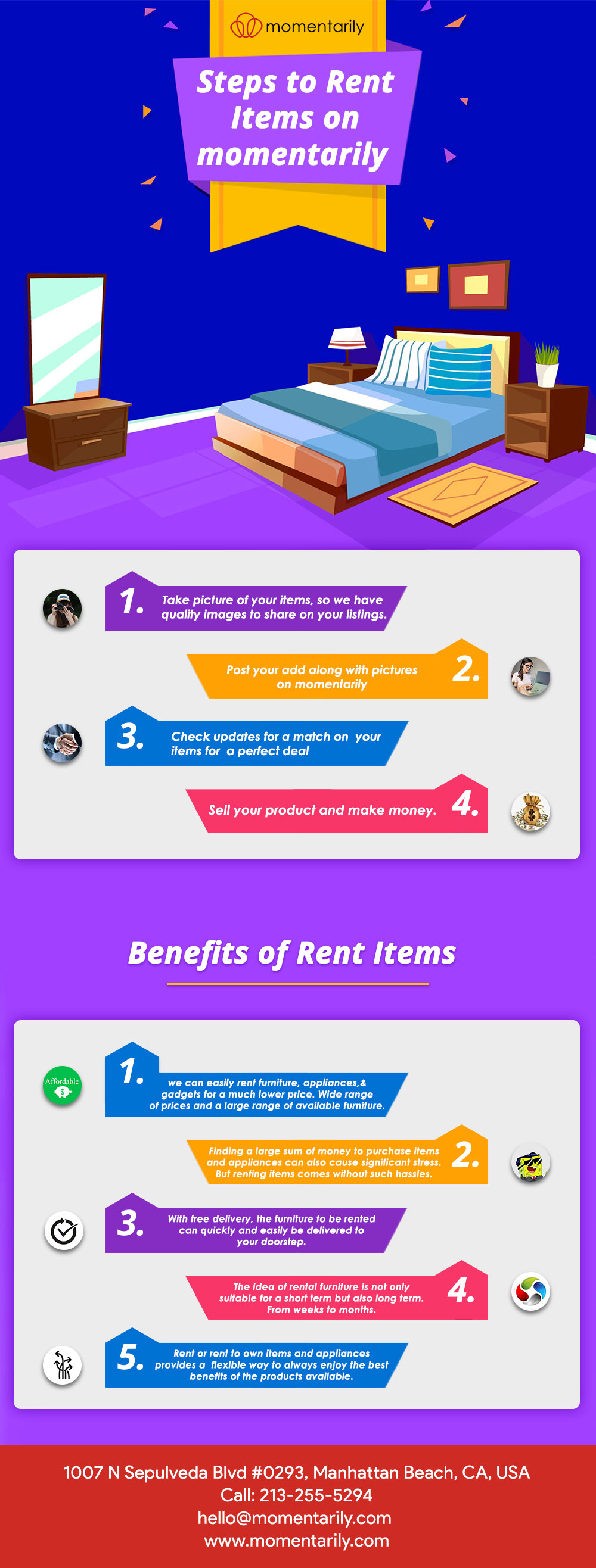 Rent Items on momntarily