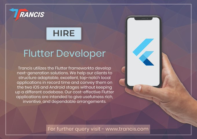 Hire Flutter Developers in Gurgaon | Trancis