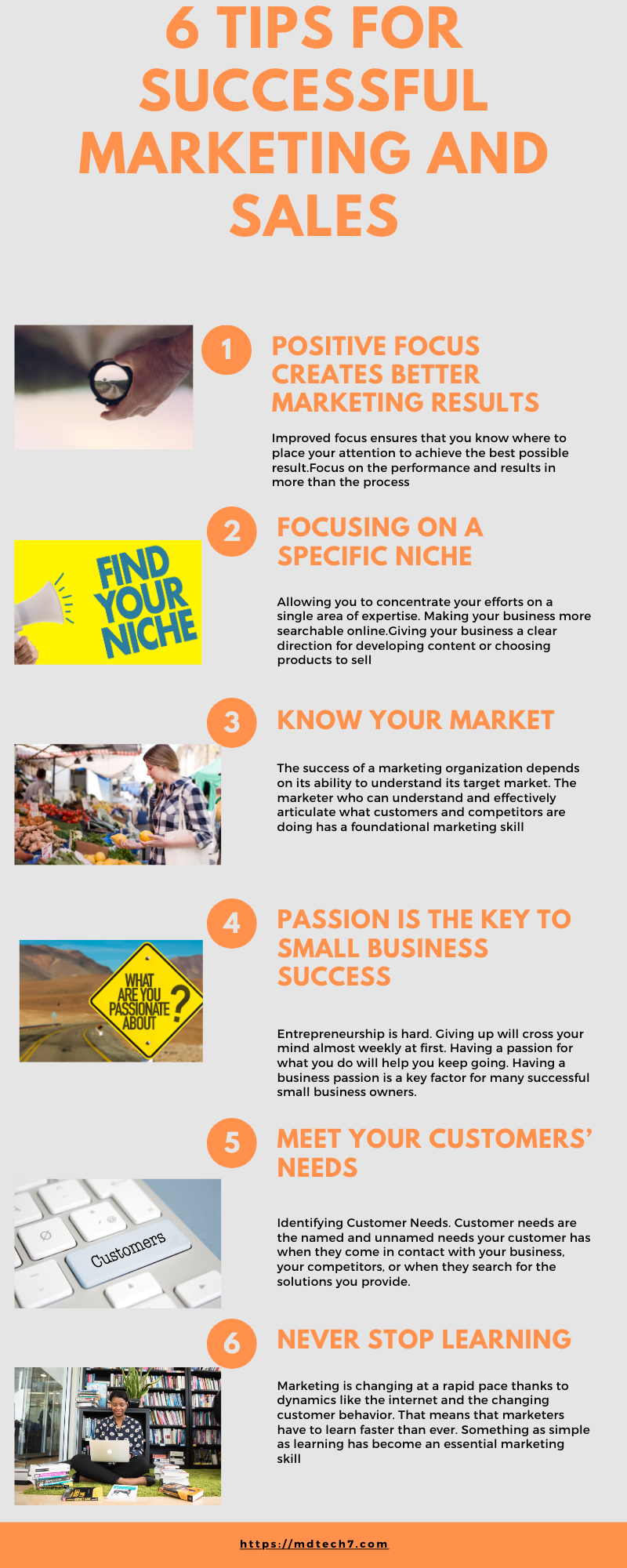 New small companies: 6 Tips for marketing success