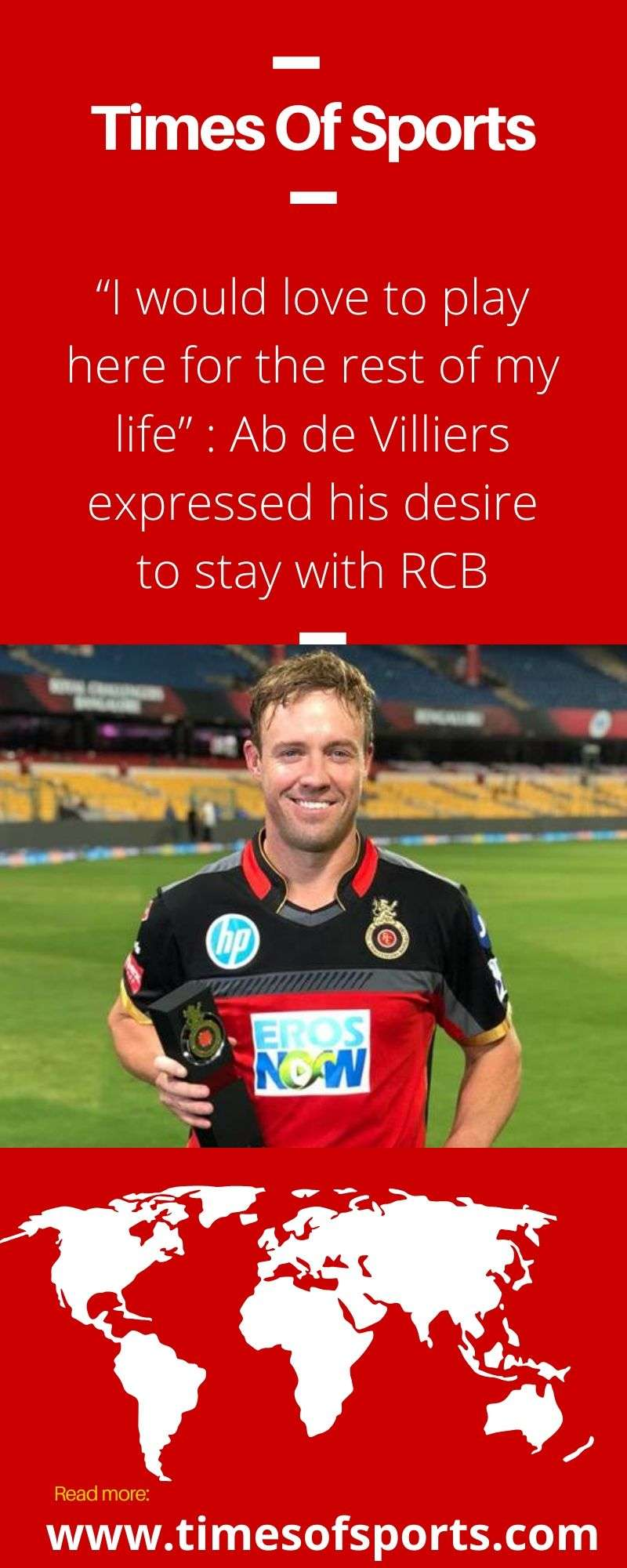 Ab de Villiers Expressed his Love To Stay in RCB